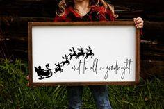 Modern Holiday Santa Sign