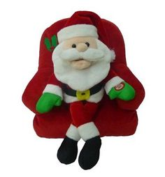 Singing Santa Claus on Sofa Polyester Musical Animatronic Plush Toy Christmas