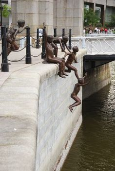 First Generation by Chong Fah Cheong. The spirited sculpture, which was commissioned by the Singapore Tourism Board, depicts a group of boys jumping into the Singapore River, not far from the Fullerton Hotel. Read on for more fascinating public sculptures.