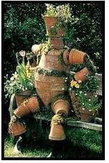 "I'm going to walk you through a very popular terra cotta pot crafts project — how to make ""Pot People"". These garden art decorations can be as small or as large as your imagination and garden space allows. Use smaller pots for a child-size figure; larger pots for adult-sized figures. You can even make ""Pot Animals"""