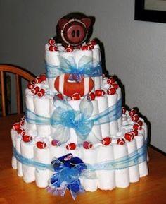Diaper Cake - Football Theme