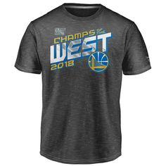 2e7529bff9fd Men's Golden State Warriors Fanatics Branded Heather Charcoal 2018 Western  Conference Champions Locker Room T-Shirt