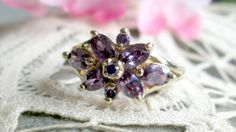 Purple Alexandrite and Sterling Silver Gold by WeeLambieVintage, $22.00