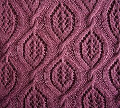 Large Lacy Cables STITCH - blocked
