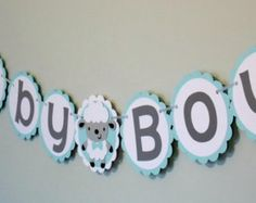 Baby Boy Sheep Banner/ Sheep Boy Baptism Banner/ Baby Boy Banner/ Lamb Birthday Banner/ Baby Shower Banner/ Baby Sheep Banner/ Lamb party