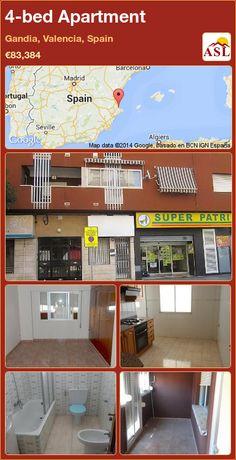 4-bed Apartment in Gandia, Valencia, Spain ►€83,384 #PropertyForSaleInSpain