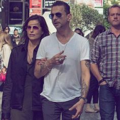 Dave Gahan and his wife, Jennifer Sklias-Gahan. Such a beautiful couple.