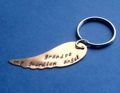 My Guardian Angel Keychain - YOU PERSONALIZE on Etsy, $7.50