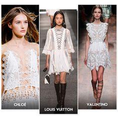 Tendances printemps-été 2015 : robe légère en dentelle blanche ! | Glamour