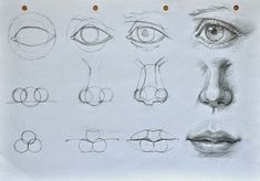 Pencil drawings #eyes #nose #mouth