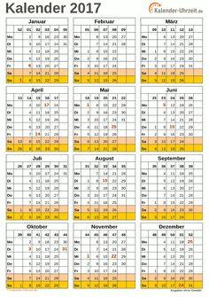 Kalender 2017 A4-Hochformat