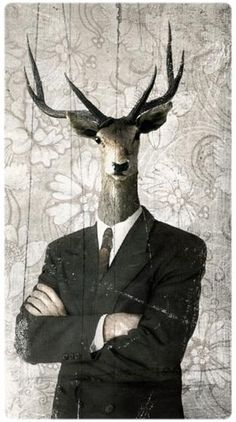 Portrait hybride - Homme cerf