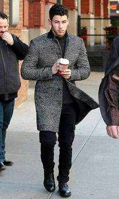 Nick Jonas, sexier than ever, went for a java run in NYC.