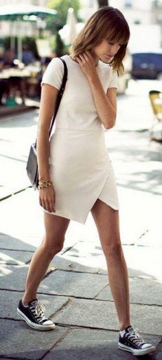 ootd+|+black+converse+++bag+++white+dress