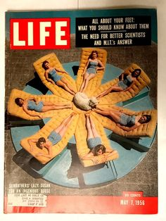 Vintage Life Magazine May Sunbathers' Lazy Susan Old Ads Look Magazine, Time Magazine, Magazine Covers, Magazine Rack, Old Magazines, Vintage Magazines, Life Magazine Archives, Life Cover, History Magazine