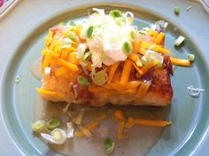 Baked Cheesy Chicken Chimichangas-use cheddar cheese instead of pepper jack, use low carb mission burrito shells, and serve with retried beans/Spanish rice