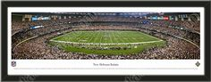 One large New Orleans Saints stadium panoramic, framed to 39 x 13.5 inches.  $99.99 @ ArtandMore.com