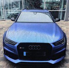 Satin blue Audi S6
