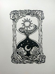 The tides of time. Micron pen on multimedia paper. Created by me!! -Bunni Hopper