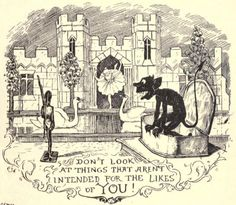 Don't look at things that aren't intended for the likes of YOU From The Yellow Fairy Book, illustrated by H. J. Ford, 1894
