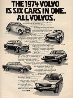 Ad for the 1974 Volvo