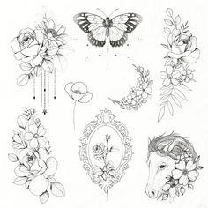 Mini Tattoos, Cute Tattoos, Flower Tattoos, Body Art Tattoos, Small Tattoos, Sleeve Tattoos, Tattoo Illustration, Ink Illustrations, Tattoo Sketches