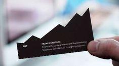 Rethink Creates Clever Financial Advisor Cards #businesscards #design trendhunter.com