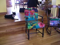 Festive Fibers: Gallery: Chairs Unique Living Room Furniture, Funky Furniture, Art Furniture, Painted Furniture, Floral Chair, Felt House, Wool Felt, Felted Wool, Furniture Inspiration