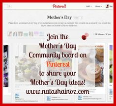 Natasha In Oz: Mother's Day Ideas and an Invitation!