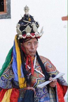 Moine bouddhiste tibétain.