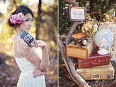 {Inspiration shoot} Mongolfiere e mappamondi per un matrimonio ispirato ai viaggi