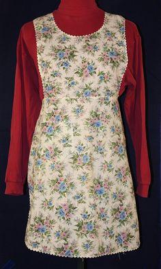Vintage Pinafore Style Apron Vintage Floral by ilovevintagestuff