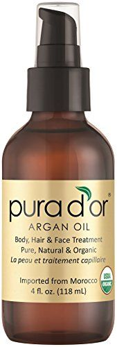 """PURA D'OR Moroccan Argan Oil 100% Pure & USDA Organic For Face"