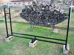 """Firewood Rack FULLY WELDED Square Pipe 4' x 8' x 12"""" built strong!!!"""