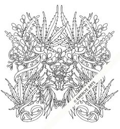 Cynthia Emerlye, Vermont artist and life coach: Hemp Mask - an adult coloring page Coloring Pages For Grown Ups, Free Adult Coloring Pages, Coloring Pages To Print, Printable Coloring Pages, Coloring Sheets, Leaf Coloring Page, Colouring Pics, Coloring Books, Bob Marley Art