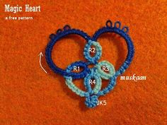 3 free heart patterns in tatting for Valentine's Day. Easy beginner & needle tatting patterns too.