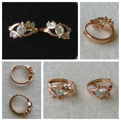 9K rose gold-filled hoop earrings with CZ bling @ AUD$12.00 + postage or local pick up available.