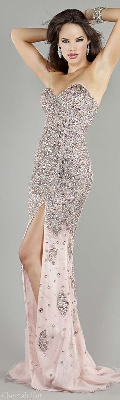 Jovani Evening Gown. Love the sparkle, but what is up with her face>