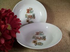 Bowls Early American Rooster Weathervane Carriage Horse VTG Ceramic Tableware #unknown