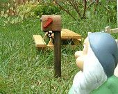 Fairy mail box. Love the picnic table also!