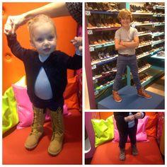 Onze topmodellen in spe waren weer bereid een klein modeshowtje te geven in onze Junior winkel, top!