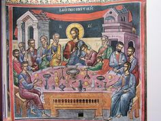 On Holy and Great Thursday, the Divine Fathers, who ordered all things aright, in succession to the Divine Apostles and the Sacred Gospels,. Raphael Angel, Archangel Raphael, Greek Icons, John Chrysostom, Peter Paul Rubens, Byzantine Icons, Holy Week, Albrecht Durer, Orthodox Icons