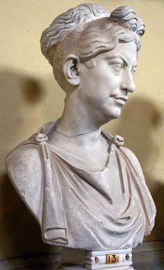 Vatikanische Museen, Museo Chiaramonti, Frisurenmode im alten Rom 1. Jh. v. Chr. (antique Roman hair style 1st century B. C.)