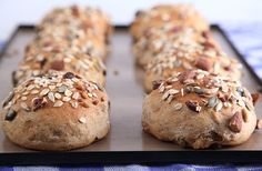 Delicious and Satisfying muesli buns - every bite gives you something different