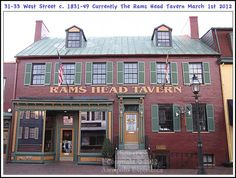 The Rams Head Tavern on West Street in Annapolis Maryland. Photograph taken on March 1st 2012. To see a full size version of this photograph and the Annapolis Experience Blog article click on the Visit Site button. Image and article Copyright © 2015 G J Gibson Photography LLC.