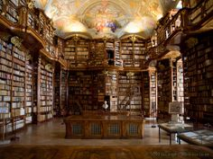Library in the Abbey of St. Florian, Austria. I want a library just like this.