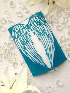 alas de ángel blanco y azul láser gatefold por ShimmeringCeremony