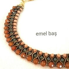Crystal necklace beaded by Emel Bas from Turkey