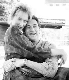 "denirobooty: ""Robert De Niro & Meryl Streep photographed by Richard Corman. """