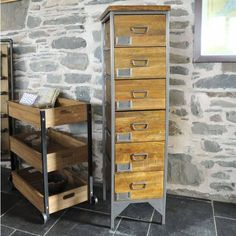The Orchard Furniture Industrial Vintage Six Drawer Apothecary Tallboy (£495) ❤ liked on Polyvore featuring home, furniture, storage & shelves and dressers